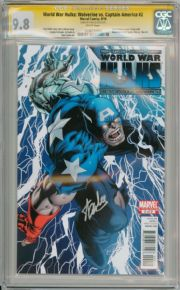 World War Hulks Woverine Vs Captain America #2 CGC 9.8 Signature Series Signed Stan Lee Marvel Comic